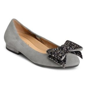 Aerosoles Grey Hang Out Suede Flat 7